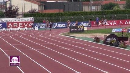 Finale 200 m Juniors Filles