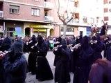 Semana Santa Zamora 2010. Banda de cornetas y tambores Jesús Nazareno congregación.
