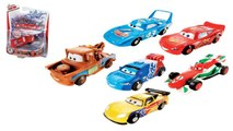 Cars Silver Stunt Racers Lightning McQueen Crank Launcher Playset Disney Pixar toys Lanceu  2014
