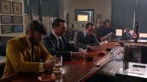 Mad Men - Chaough and Peggy join Don, Pete and Stan at a bar after Heinz ketchup presentation