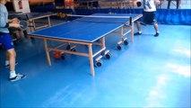 Apprentissage du tennis de table : Le service bombe