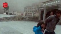 네팔 지진 당시 티베트 산사태 영상