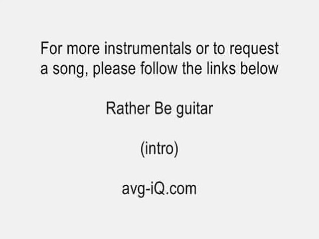 Rather Be Clean Bandit ft  Jess Glynne acoustic guitar instrumental cover  with onscreen lyrics