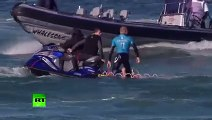 Jaw-dropping: Surfer fights off shark attack live on TV in S. Africa
