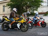Suzuki GSXR 750 & 1000 Burnouts, Revs and Wheelie, 750F,  Yamaha R1 R6, Kawasaki ZX6