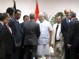 PM Narendra Modi meets industry leaders in Bangladesh