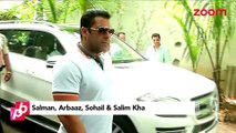 Salman Khan, Arbaaz Khan, Sohail Khan and Salim Khan attend a funeral - Bollywood News