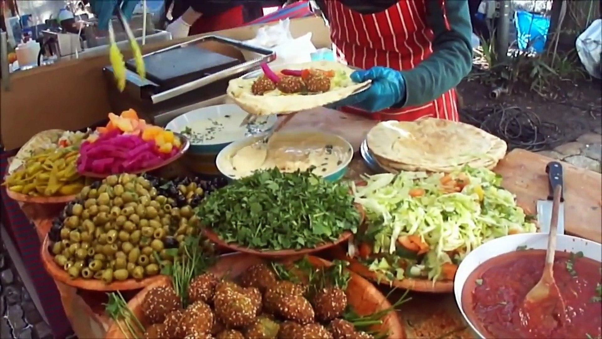 Lebanese Falafel Camden- London (فلافل لبناني رائعة في (سوق كامدن ، لندن