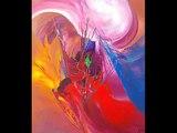 """Eliora Bousquet - Collection de peintures """"Vertiges chromatiques - 2"""" (art abstrait lyrique)"""