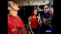 Lita,Matt Hardy and Jeff Hardy backstage