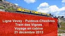SBB Train des Vignes - voyage en cabine Vevey-Puidoux