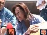 Felipe Calderón en su cierre de campaña en el estadio Azteca