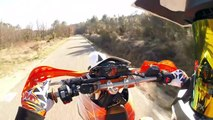 KTM690 SMC R , ☠Road Rage☠ , Wheelings , Stoppie , virages & :-)