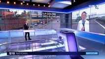 Les agriculteurs bloquent le périphérique de Caen