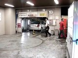 Parking garage carousel in Shibuya, Tokyo, Japan.