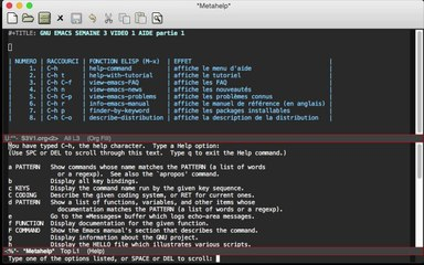 GNU EMACS SEMAINE 3 VIDEO 1