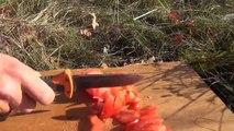 """Survival Mattin"" macht eine ""Bear Grylls Ultimate Knife"" Messer Review Rückblick Extrem-Test"