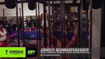 Arnolds Schwarzeneggers Rare Footage of Training Back and Chest Golds Gym Venice