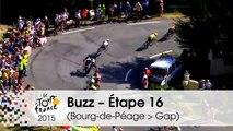 Buzz du jour / Buzz of the day - Geraint Thomas's crash - Étape 16 (Bourg-de-Péage > Gap) - Tour de France 2015