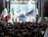 Italian Prime Minister Silvio Berlusconi punched in the face