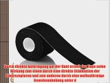 Kinesiologie Tape elastisches Klebeband 5mx5cm in verschiedenen Farben Schwarz 6 St?ck Original
