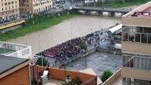 Genoa-Milan 09 maggio 2009:corteo tifosi genoani