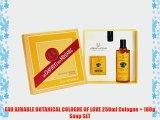 EAU AIMABLE BOTANICAL COLOGNE OF LOVE 250ml Cologne   100g Soap SET