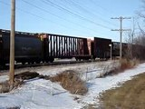 BC Rail (CN) 4641, Illinois Central 1001, CN 2616 - 4th Line Rd. By the Ontario-Quebec Border