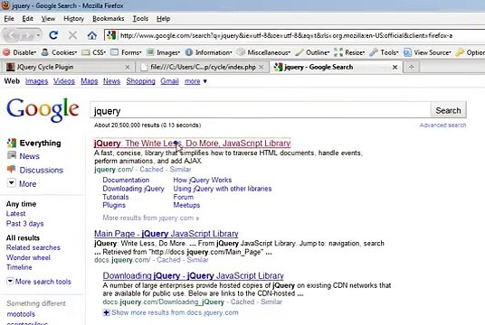 jQuery Cycle Plugin - usage and explanation