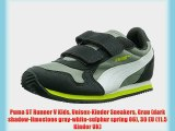 Puma ST Runner V Kids Unisex-Kinder Sneakers Grau (dark shadow-limestone gray-white-sulphur