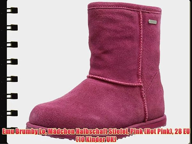 the latest 24da1 742f0 Emu Brumby Lo M?dchen Halbschaft Stiefel Pink (Hot Pink) 28 EU (10 Kinder  UK)