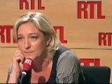 Marine Le Pen Parle de la crise financière et  de la Politique suicidaire de Sarkozy