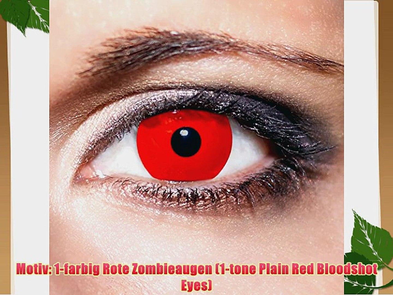 KwikSibs farbige Kontaktlinsen rot Zombie weich inklusive Beh?lter K505 BC 8.6 mm / DIA 14.0