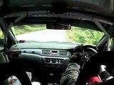 Evo catching a Porsche, a Skyline GT-R, a Porsche... Targa Wrest Point Rally 2009