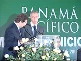 Panamanian President Martin Torrijos and Jaime Gilinski at the Panama Pacifico signing ceremony