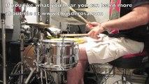 Drummer Chris DeRosa Playing Grooves