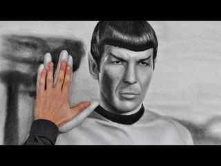 Leonard Nimoy SPOCK (Star Trek) AMAZING drawing
