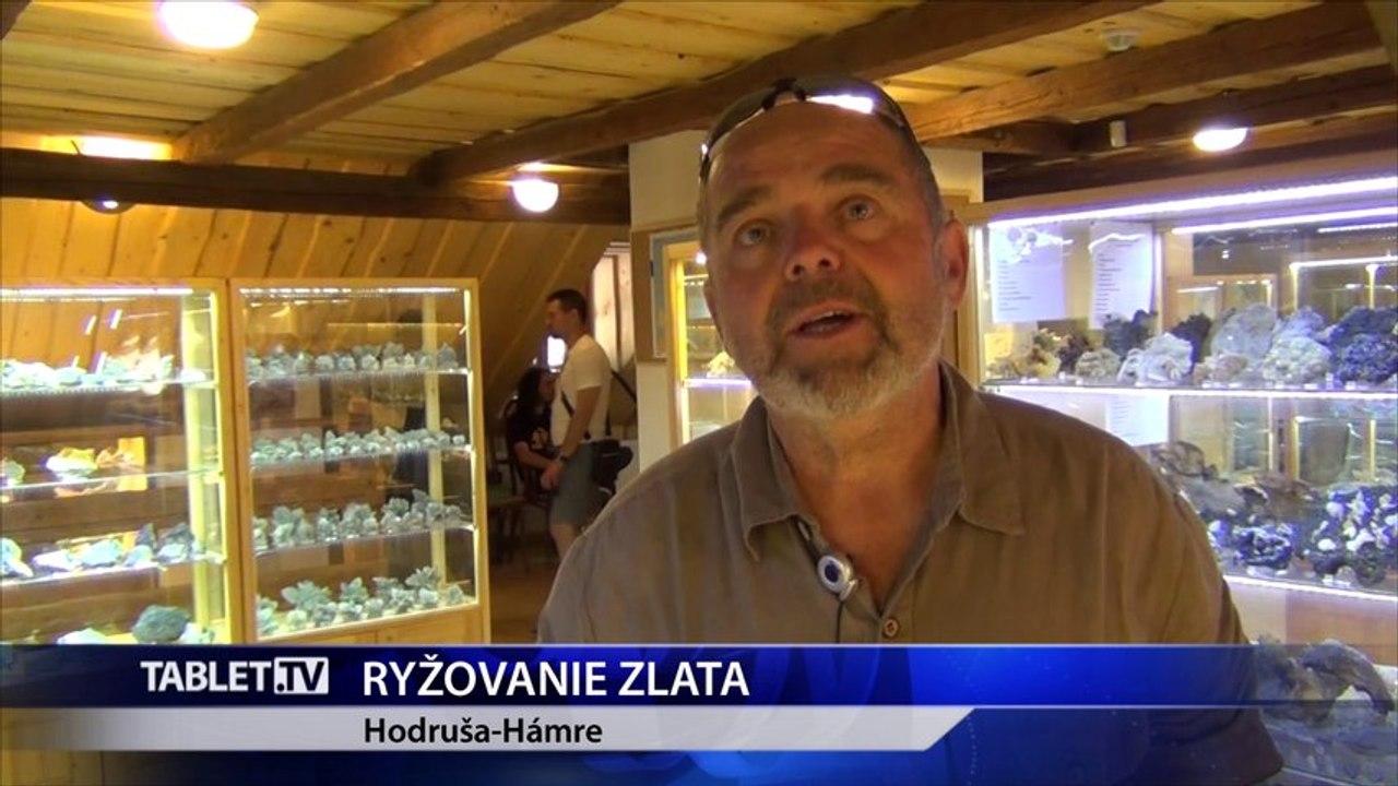 V obci Hodruša Hámre je vyhľadávaná škola ryžovania zlata
