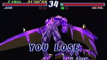 Tekken 2 [Arcade/PS2] | Jun Kazama vs Devil Kazuya