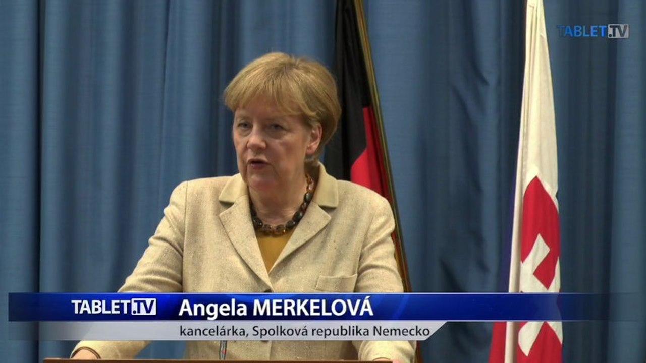 ZÁZNAM: Angela Merkelová po rokovaní s Robertom Ficom