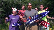 Guys play bowling and fish with RC cars and boats! - RC Battle Dude Perfect