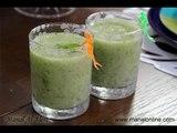 عصير الكيوي مع النعناع الأخضر - مطبخ منال العالم
