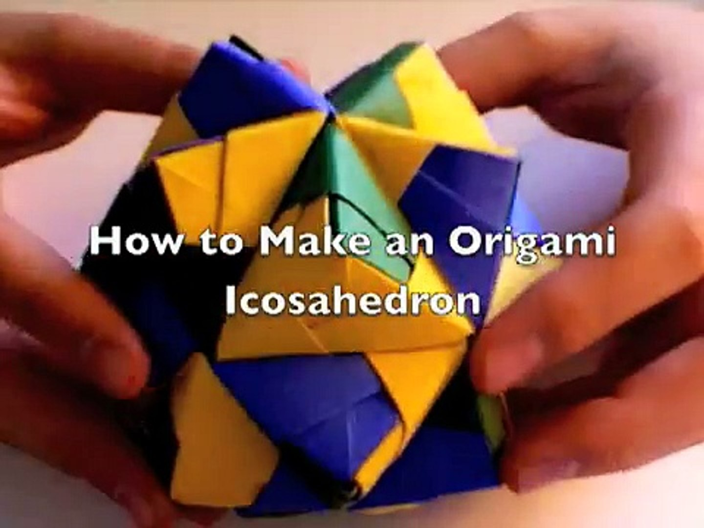 Multi Colored Icosahedron Origami Papaer Art Stock Photo (Edit Now ... | 1080x1440