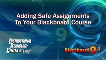 Adding a Safe Assignment to Your Course in Blackboard