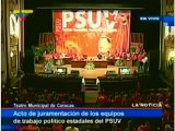 Chávez juramenta a los cuadros políticos del PSUV