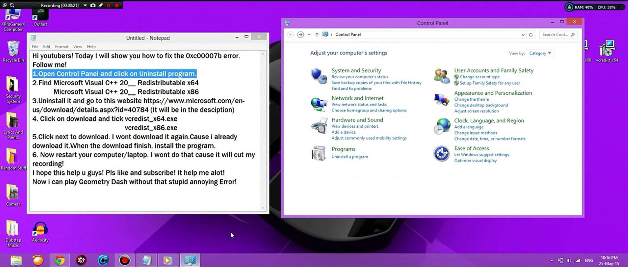 [How To] Fix 0xc00007b error on Window 8/7 [Tutorial]