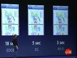 Apple Inc. Steve Jobs shows new Iphone 3G for $199