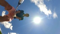 Man plays golf with the new tiny GoPro Hero 4 Session Camera