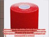 6x Kinesiologie Tape elastisches Klebeband 5mx5cm in verschiedenen Farben  hautfreundlich