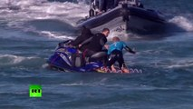 Jawdropping: Surfer fights off shark attack live on TV in S. African competition